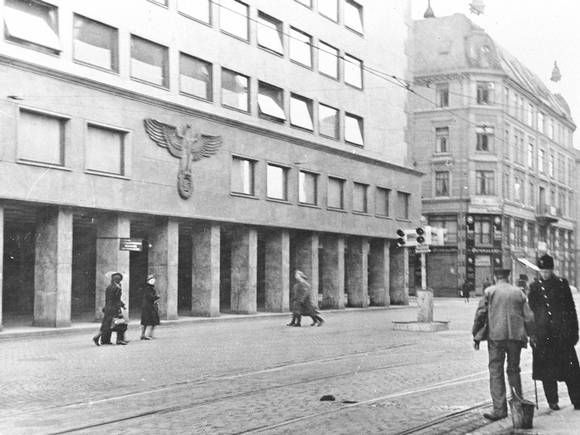 The nazi eagle on a building in Oslo 1940 while occupied