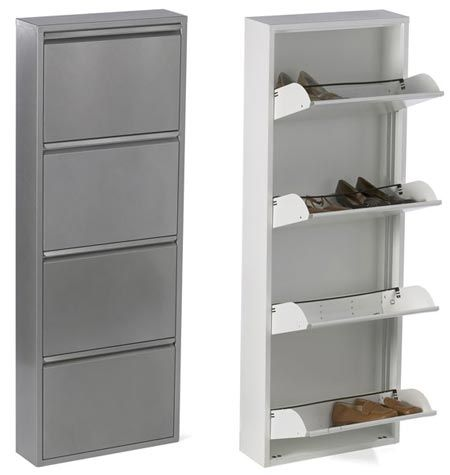 4 Drawer Shoe Cabinet From The Container Store Wall Mounted Shoe Rack Metal Shoe Rack Shoe Cabinet