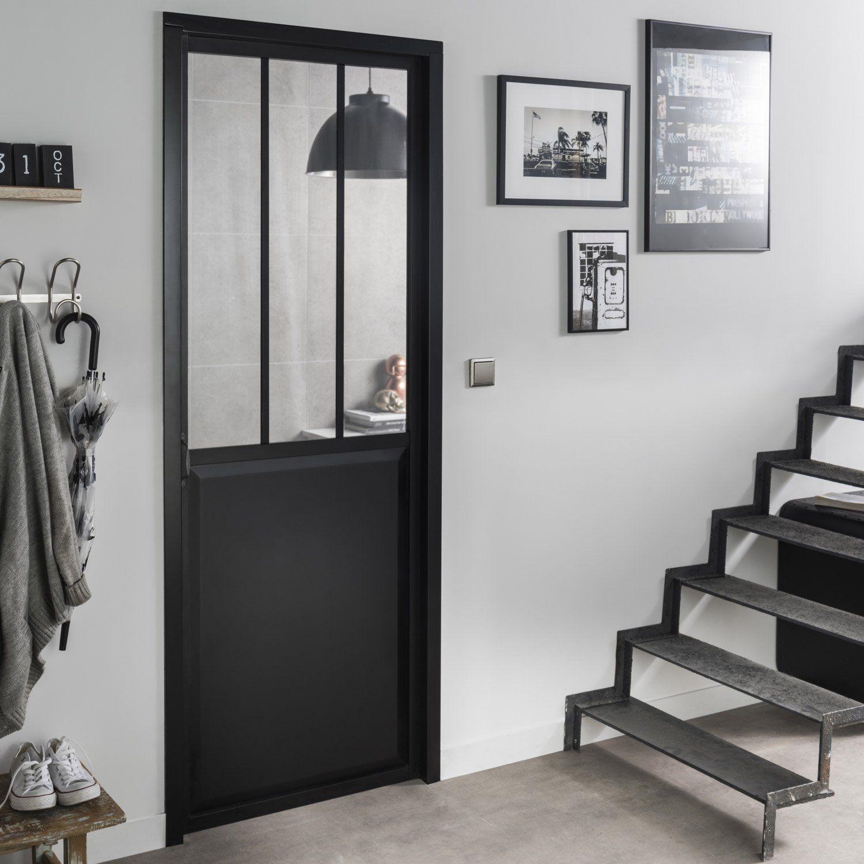 0893b4fa20f Bloc-porte atelier laquée aluminium noir ARTENS