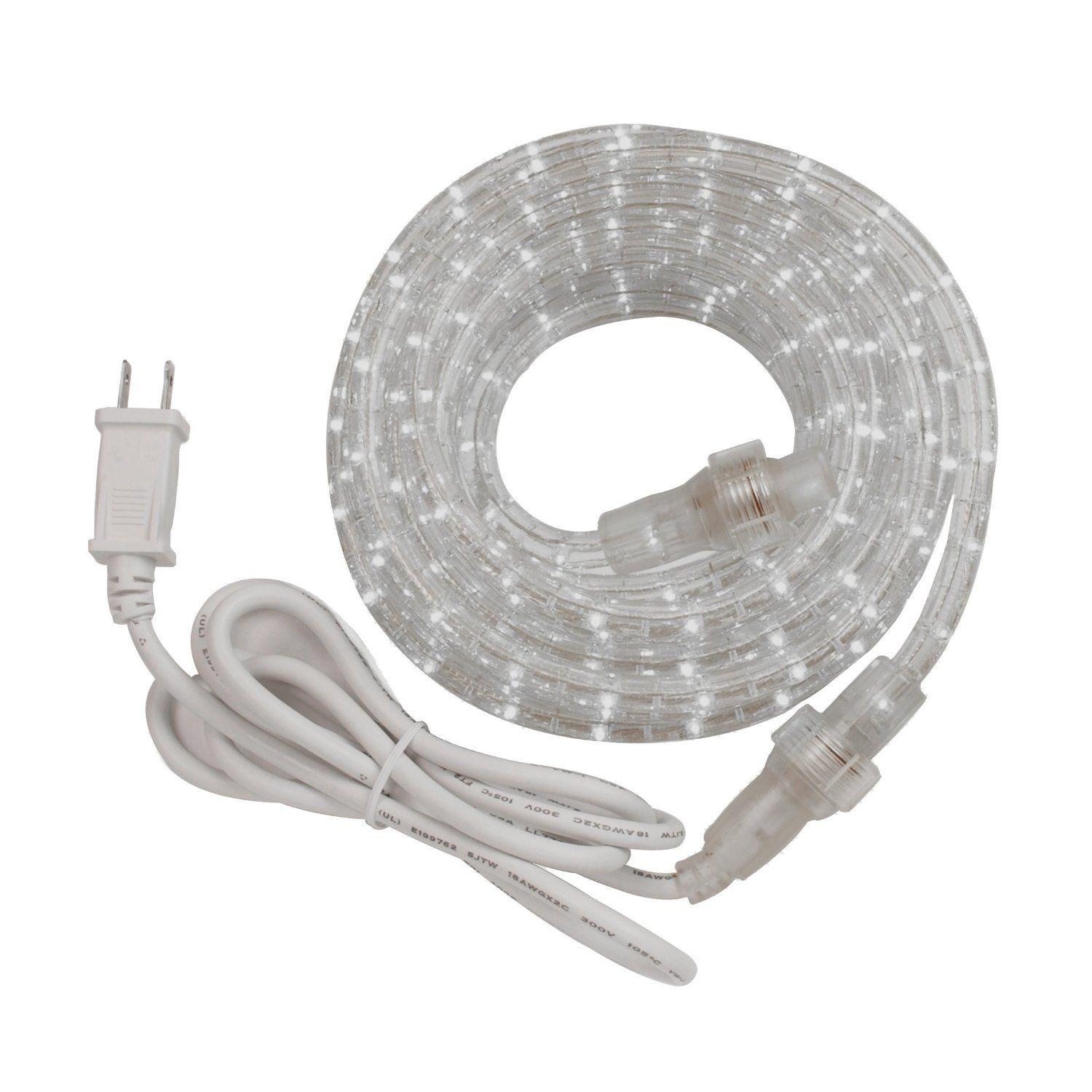 Amazon westek rw48bcc 100w clear 48 feet white rope light kit amertac incandescent rope lights feature flexible heavy duty uv inhibiting pvc tubing that resists yellowing and cracking simple to connect additional aloadofball Images