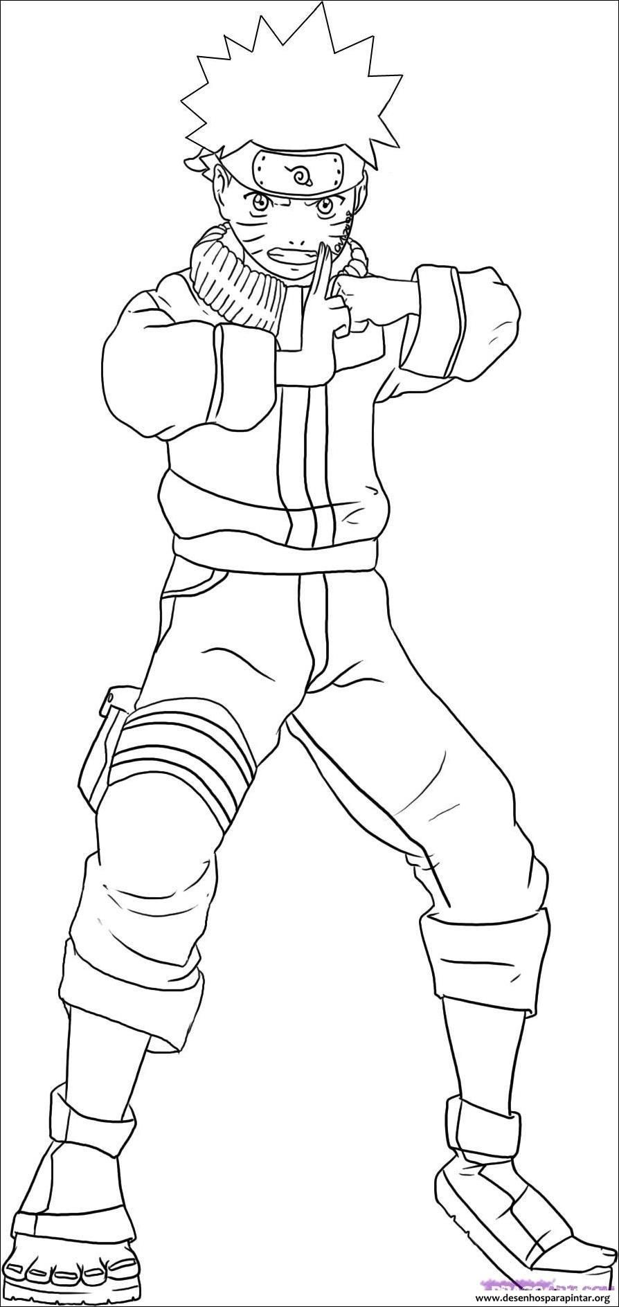 Naruto desenhos colorir pintar imprimir 04 printable coloring pages coloring pages for kids cartoon coloring pages
