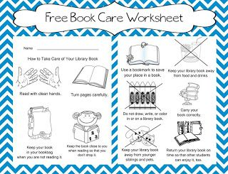 graphic relating to Work Sheet Library known as E-book treatment worksheet once traveling to the library. FREEBIE