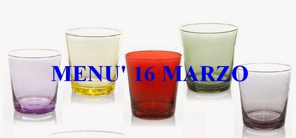 Noi oggi cuciniamo: Ricette per mercoledì16 marzo