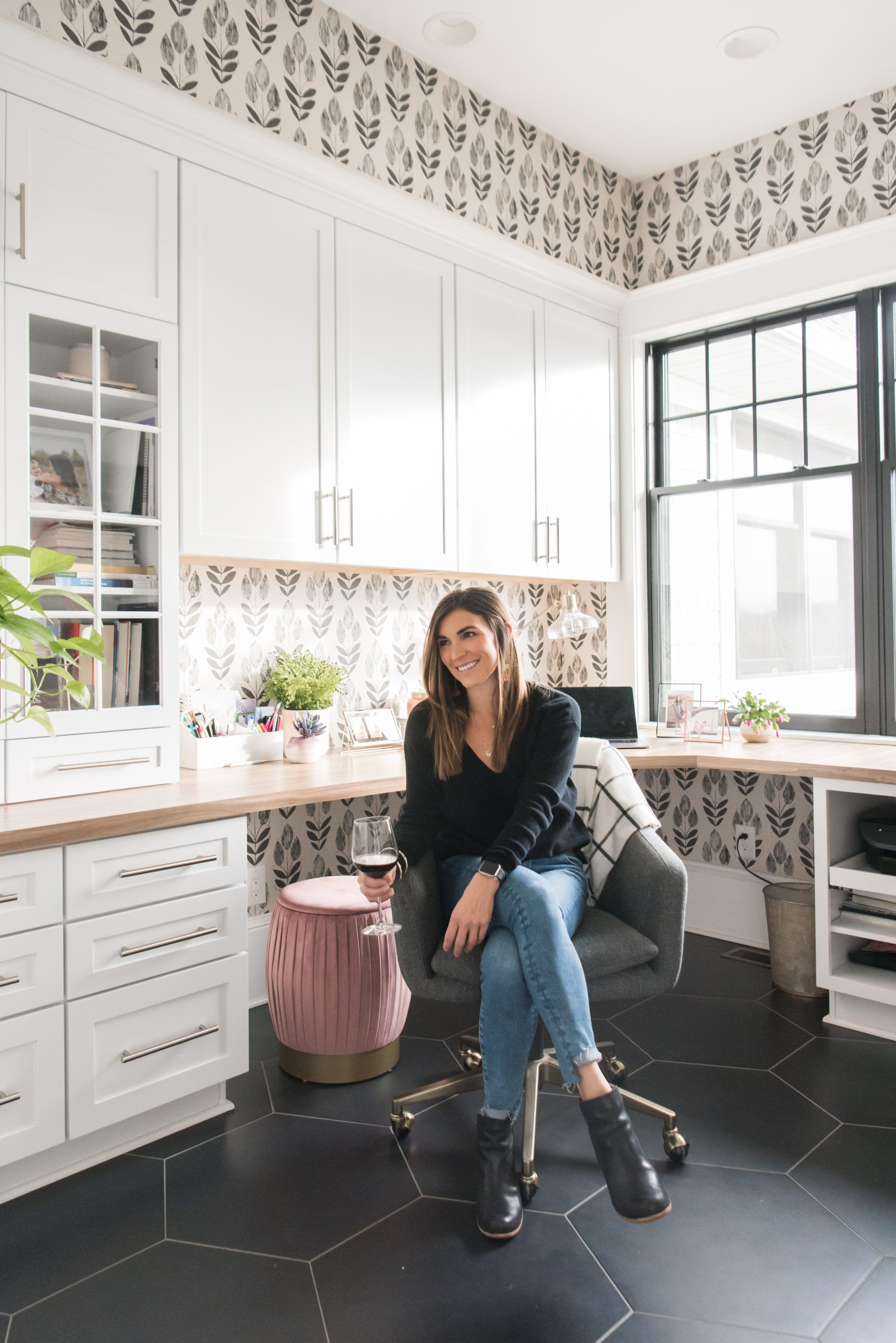 Home Office Refresh With Vinyl Wallpaper With Images Vinyl