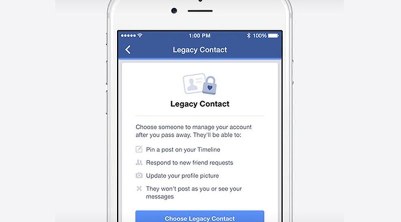 Facebook oferece opção de apontar uma pessoa para cuidar do seu 'legado digital'