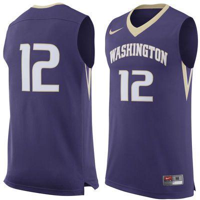 Men's Nike #12 Purple Washington Huskies Replica Jersey | Jersey ...