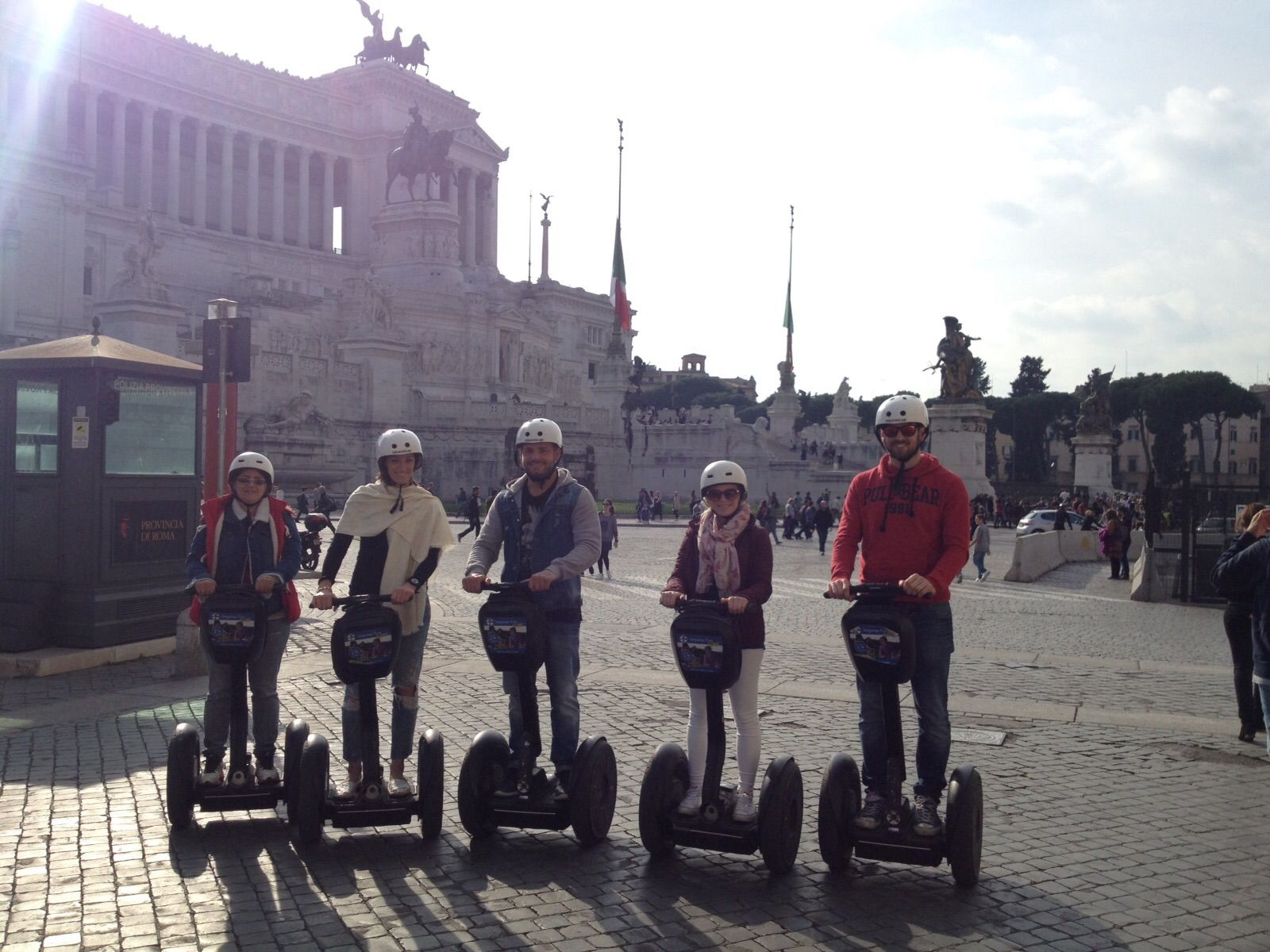 Travelling with unknown people on a segway tours in Rome ...