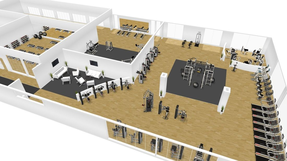 Visualise your gym in 3d before you make it happen in real for Gym blueprints