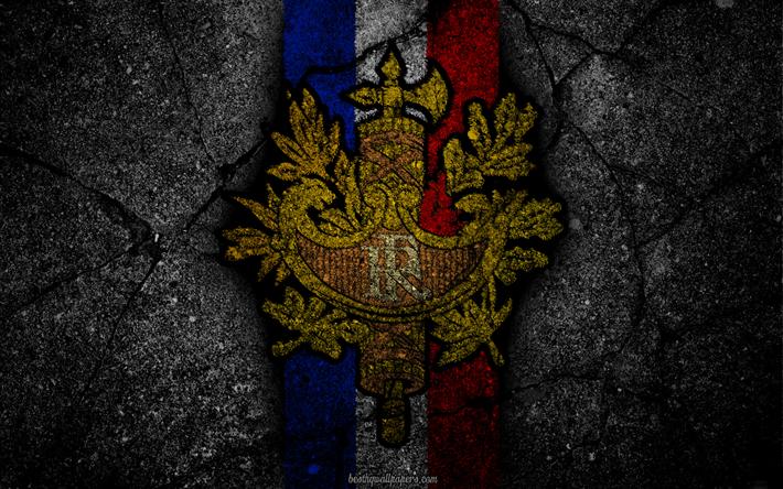 Lataa kuva vaakuna Ranska, Ranskan vaakuna, grunge, lippu Ranska, art, Ranskan lippu, symboliikka Ranska