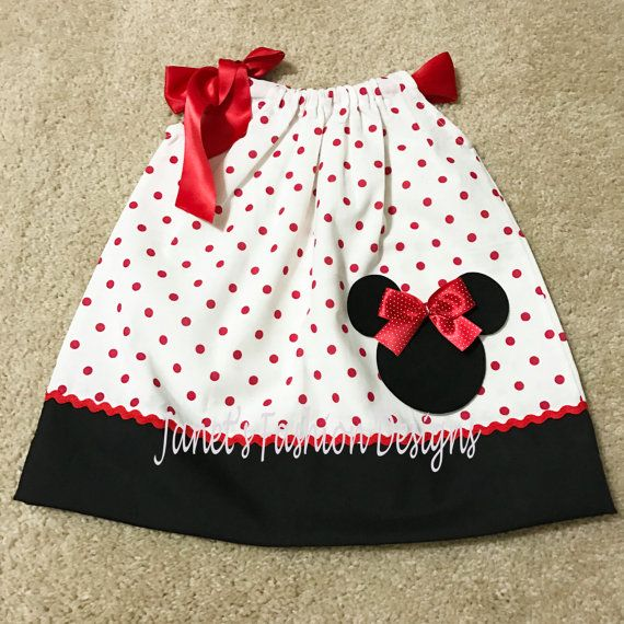 Minnie Mouse Kissenbezug Kleid Minnie Maus Polka Dots ...