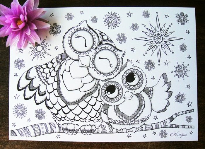 Baby Owl Coloring Pages Baby Owl Printable Coloring Pages Owl
