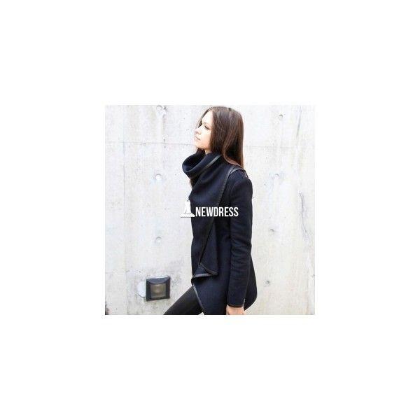 Womens Winter Woolen Overcoat Fashion Trench Woolen Coat (120 HKD) via Polyvore