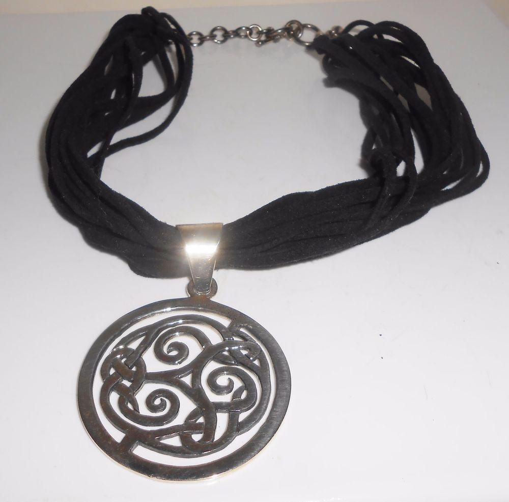 Silpada celtic pendant black leather necklace silpada sterling 925 silpada celtic pendant black leather necklace silpada sterling 925 silpada pendant aloadofball Images