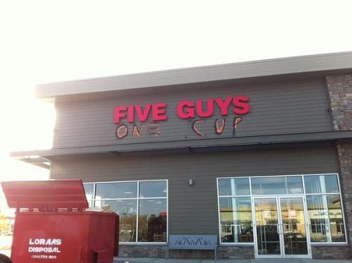 Five guys, one cup