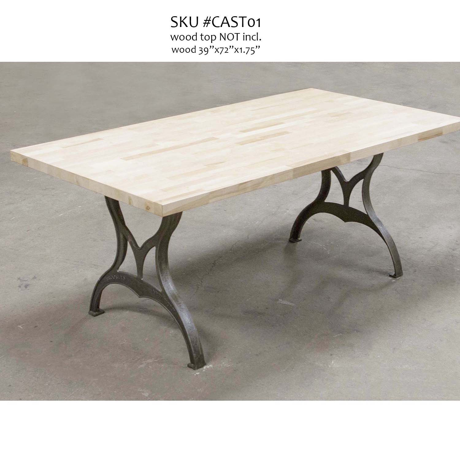 CAST01 Cast Iron Dining Table Legs, 2 pack Dining table