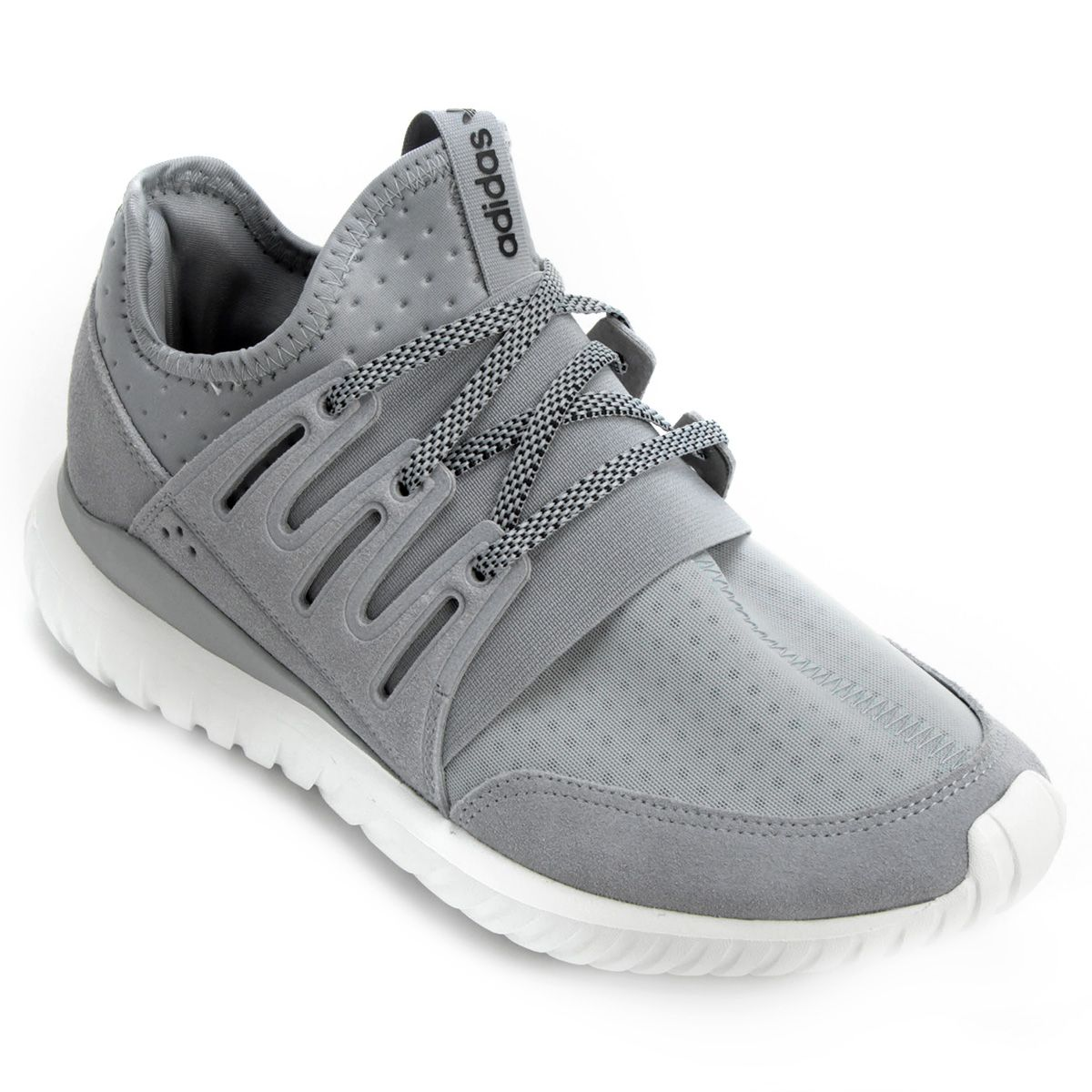 Tênis Adidas Tubular Sneakers Radial Cinza | NetZapatos | Sneakers Tubular n Outfits f691e0