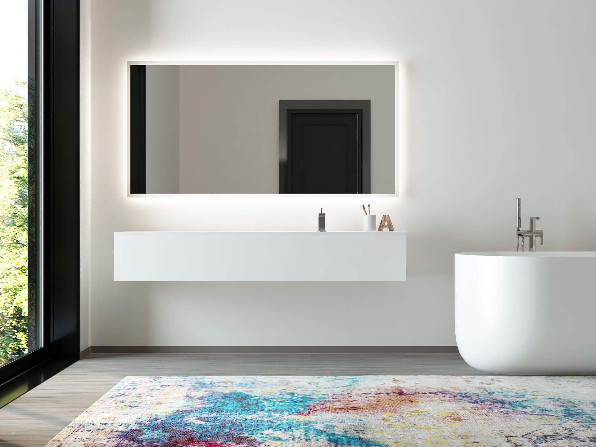 11 Jerome Ist Ein Spiegel Mit Rundherum Beleuchtung Badspiegel Spiegel Beleuchtung