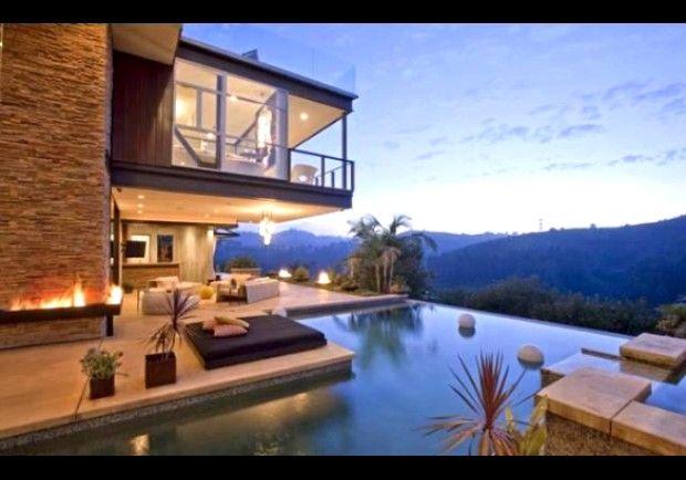 Ashton Kutcher Hollywood Hills Homes Celebrity Houses House