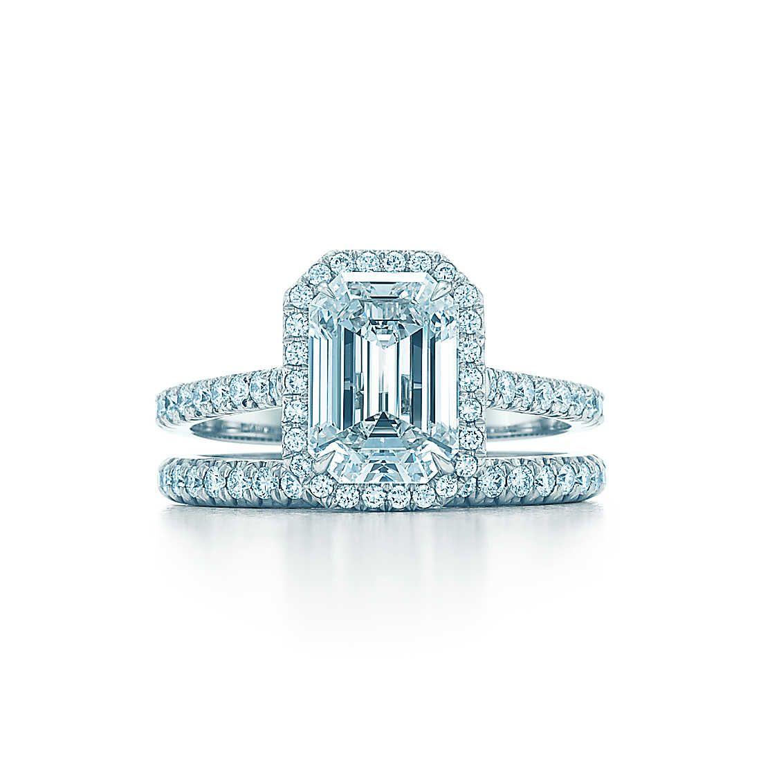 Emerald Cut Diamond Engagement Rings Tiffany Soleste Engagement Rings Tiffany