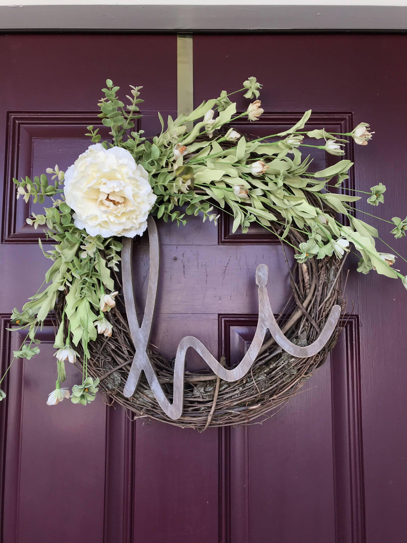Summer Wreath Rustic Front Door Decor Housewarming Gift Floral