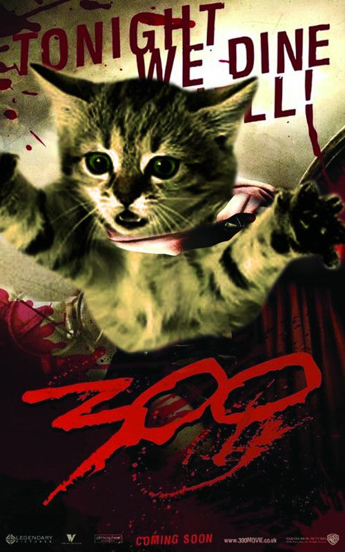 300 Cat Movie Poster Cat Posters Cat Movie Cats