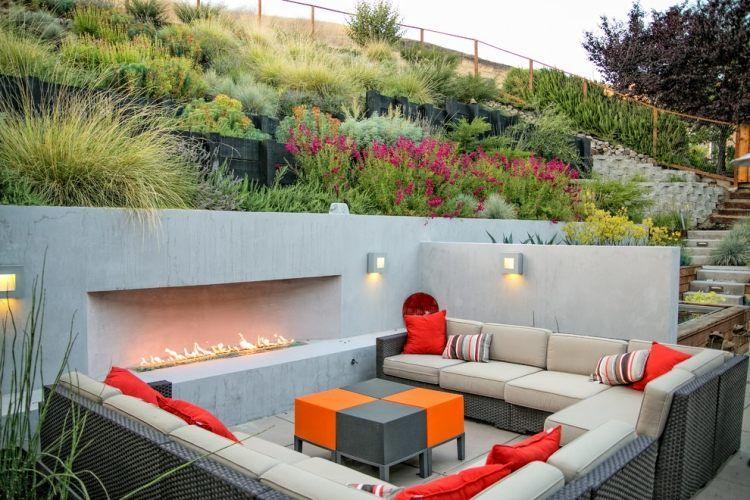 foyer ext rieur conseils de construction et 48 photos super salon exterieur avec piscine. Black Bedroom Furniture Sets. Home Design Ideas