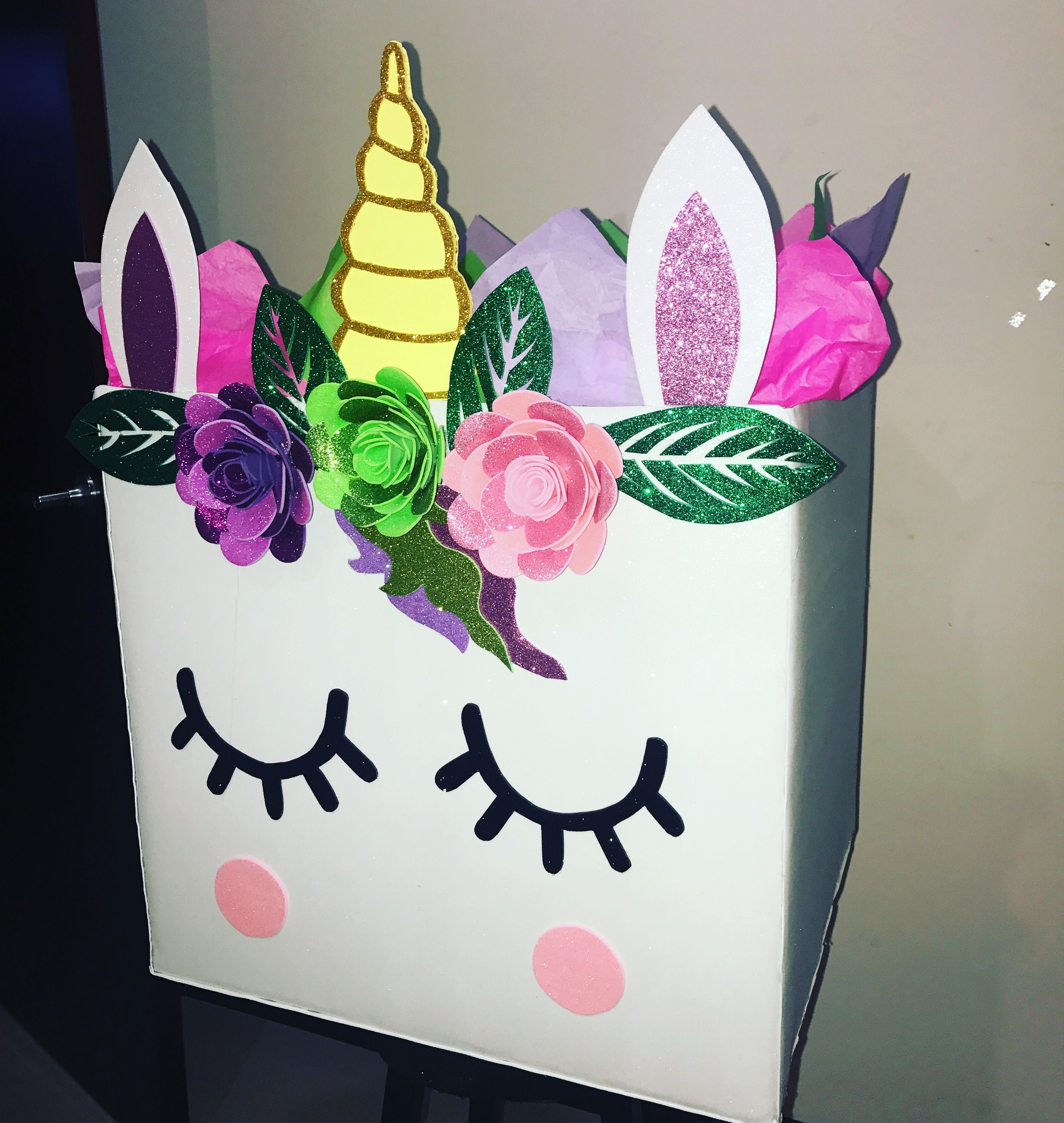 Perfect Caja Sorpresa Decorada De Unicornio Sin Tapa! #cajasderegalo #cajassorpresa  #unicornio