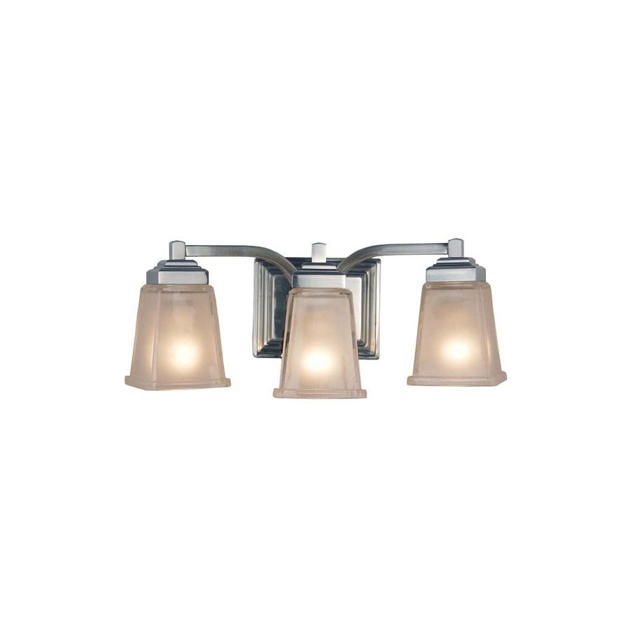 shop allen roth 3 light elloree brushed nickel bathroom vanity rh pinterest com