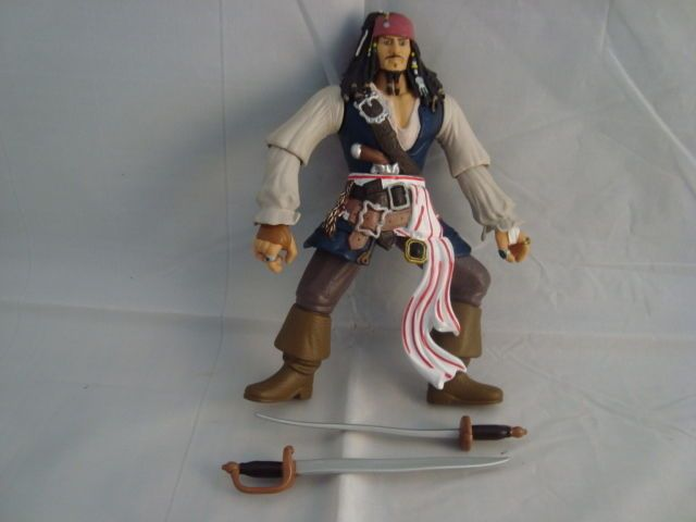 ZAZZLE SWORD SLASHING JACK SPARROW OUT OF PACKAGE TWO SWORDS DEAD MANS