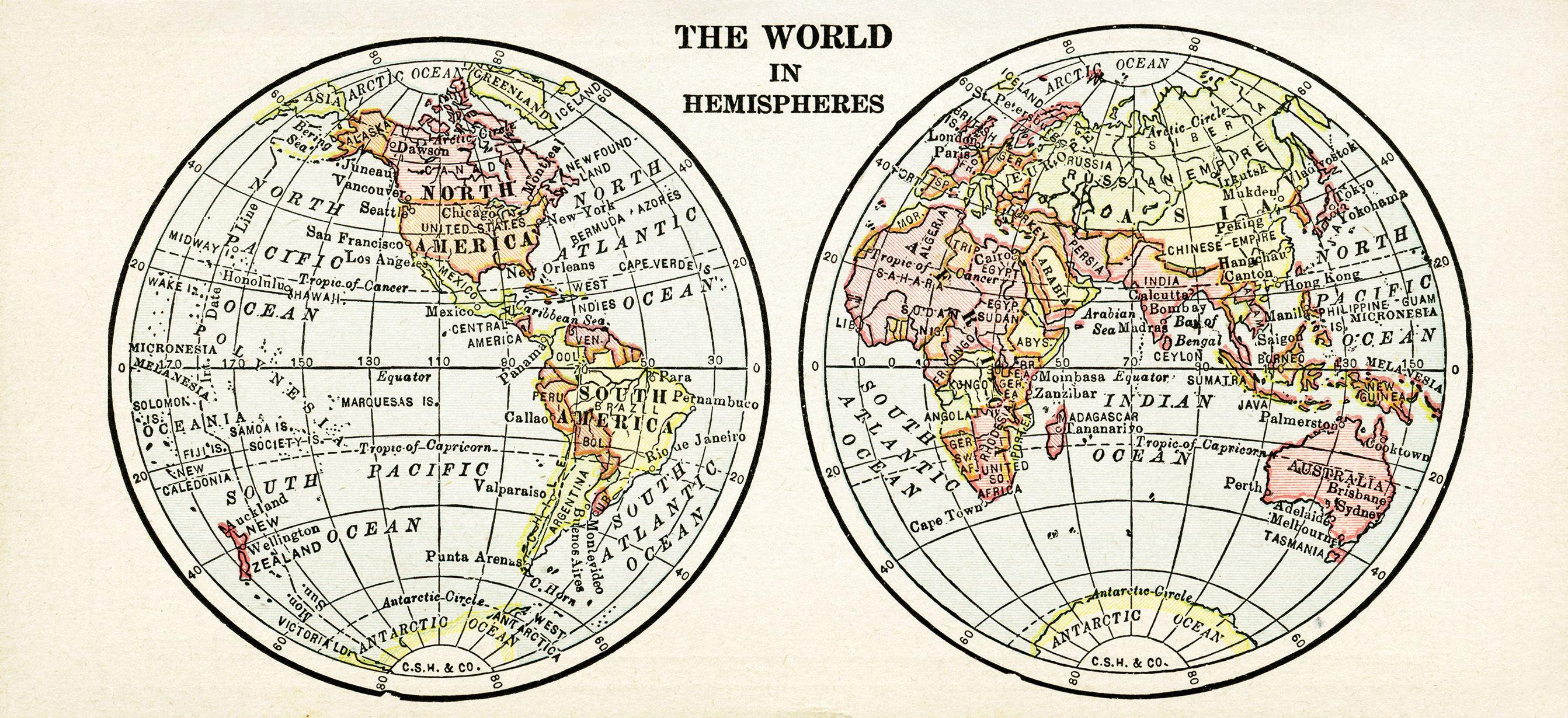 World in hemispheres free vintage image world map clip art world in hemispheres free vintage image world map clip art antique map graphics old geography illustration gumiabroncs Choice Image