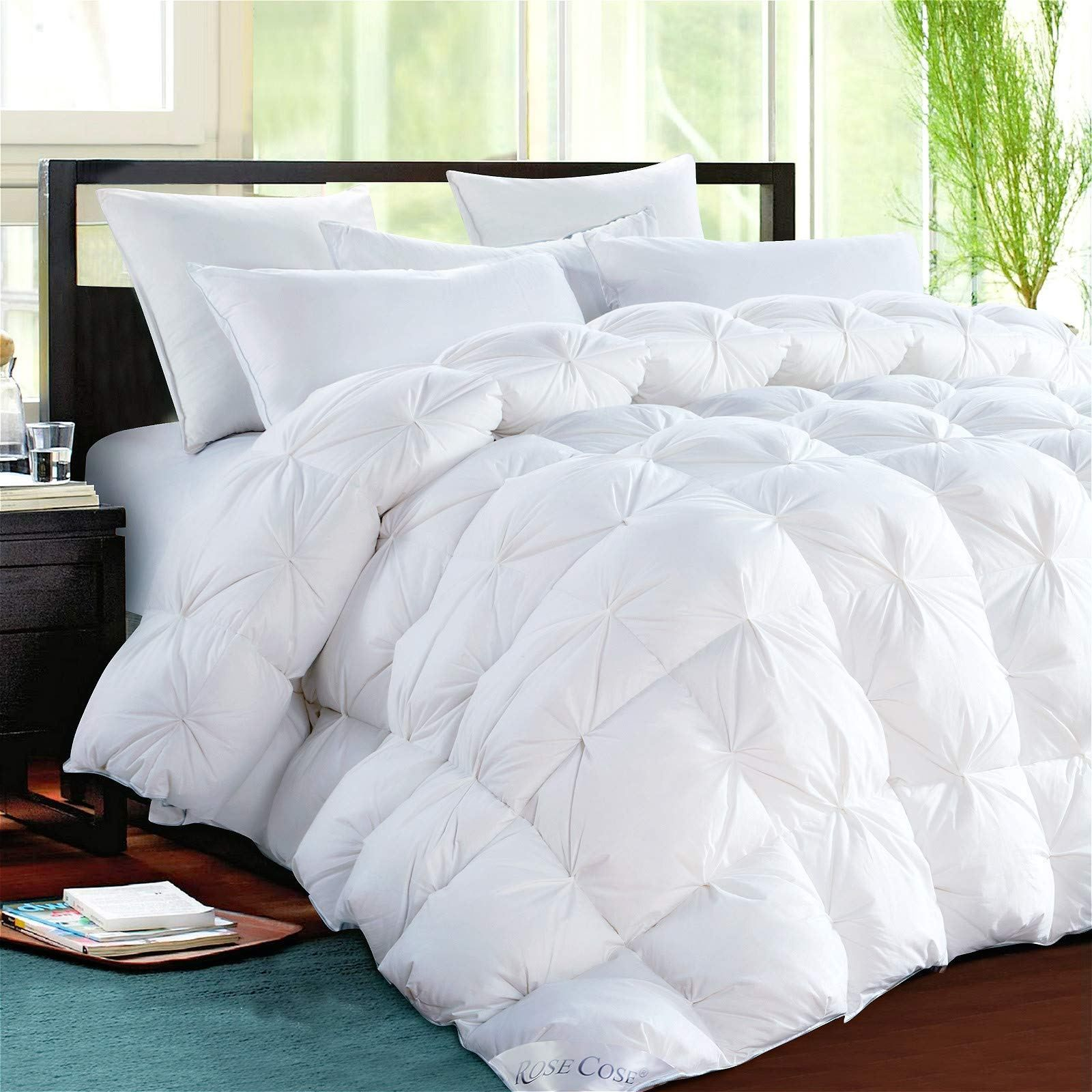 Rosecose Luxurious Heavy Goose Down Comforter Duvet Insert Pinch