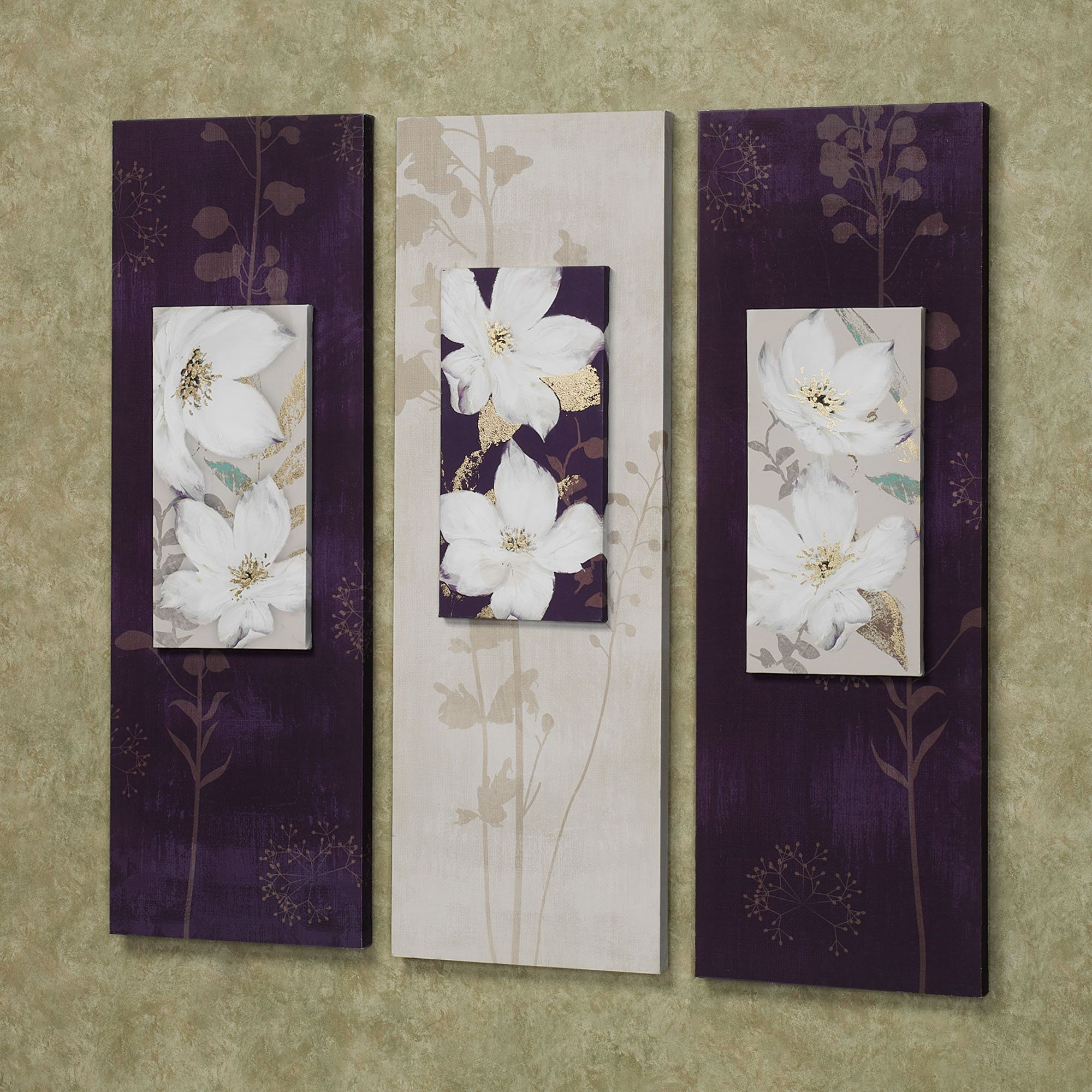 Purple And Gray Wall Art garden dance floral canvas wall art set | wall art sets, canvas