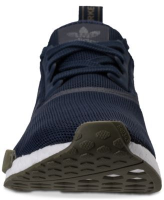 adidas Men's Nmd R1 Casual Sneakers from Finish Line Blue