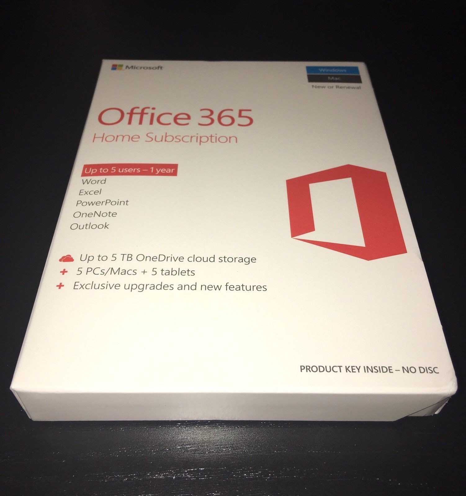 Microsoft Office 365 Home Premium 1 Year Subscription For 5 PC, MAC ...