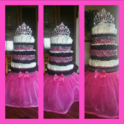 Avery Joi diaper cake..... my first.
