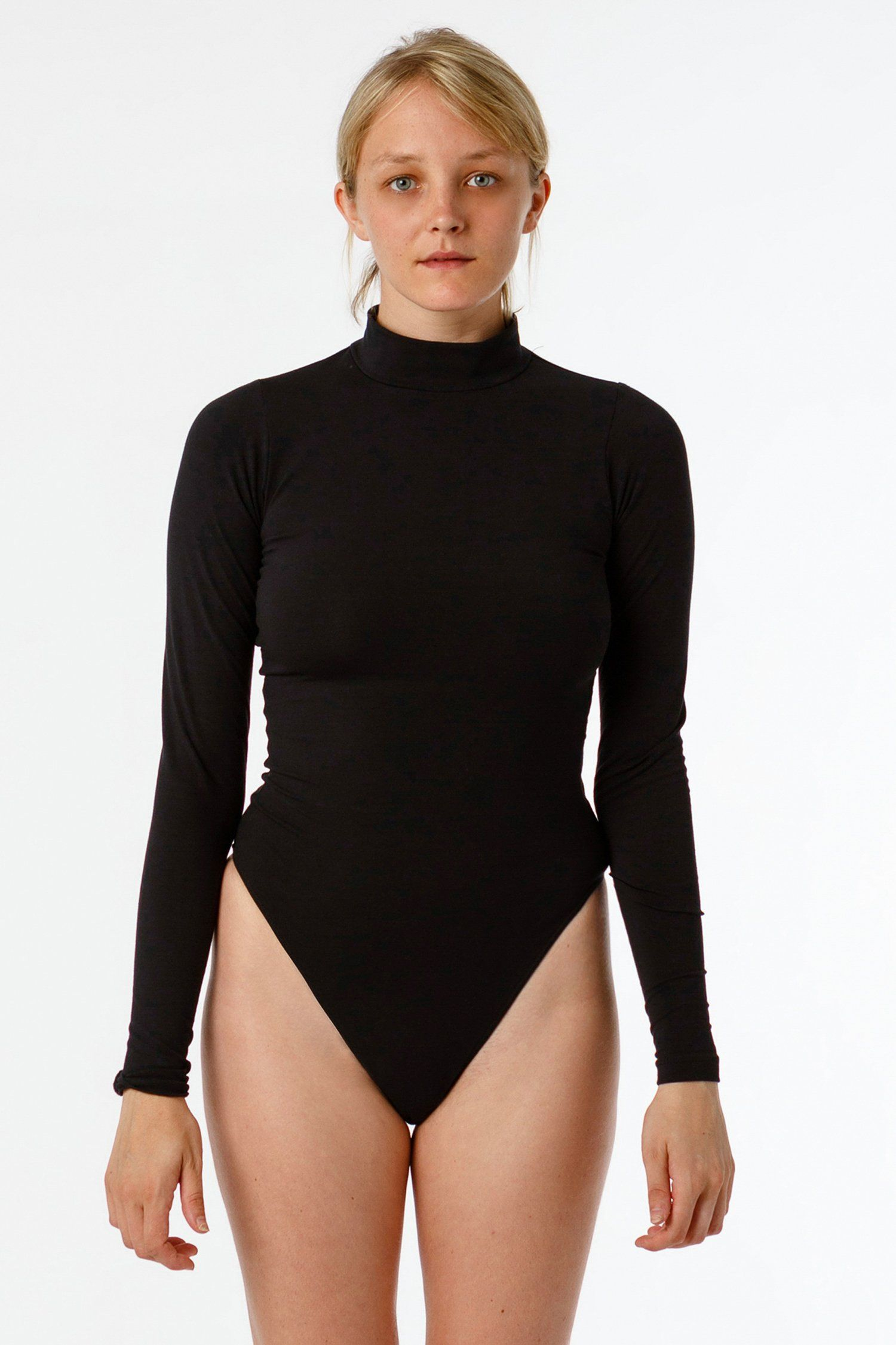 e82f888b7f B122CTS - Long Sleeve Mock Neck Bodysuit – Los Angeles Apparel