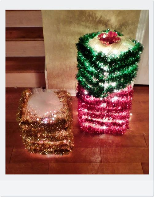 Meg Made Creations: Indoor/Outdoor Christmas Decor DIY   How To Make Lighted