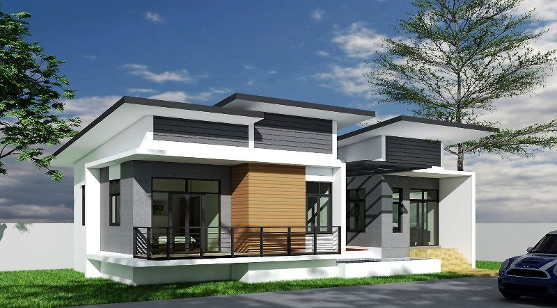 One Storey Concept Home with 3 Bedrooms in 2020 | Concept ...