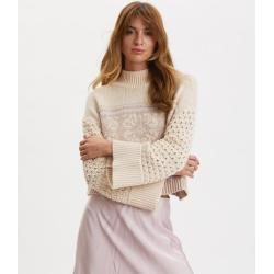 Magnetic Jacquard Polo Sweater Odd Molly
