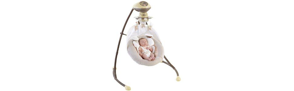 Amazon.com : Fisher Price My Little Snugapuppy Cradle and Swing : Stationary Baby Swings : Baby