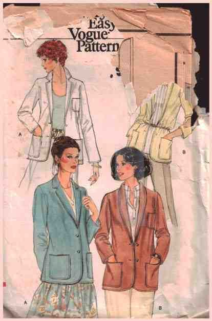 Vogue Sewing Pattern 7074 Misses' Jacket Size: 14 Used