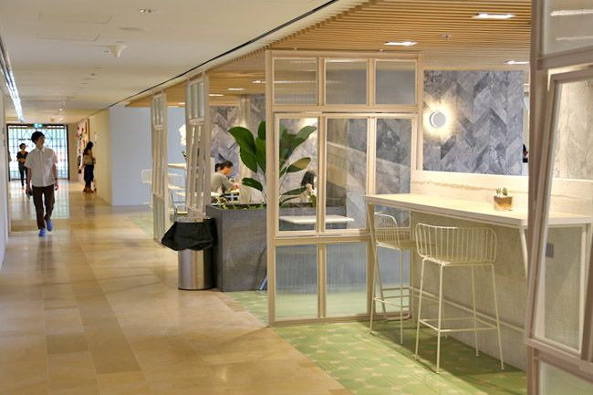 Pin By Eunice Chew On Interior F B Company Cafe Cafeteria Ground Floor