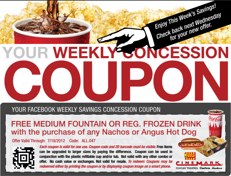Free Drink With Your Nachos Or Hot Dog At Cinemark Movie Theaters Coupon Via The Coupons App Free Popcorn Sour Patch Kids Coupons