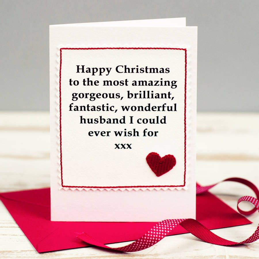Husband Christmas Cards.Christmas Card For Husband Or Boyfriend Boyfriend Gifts