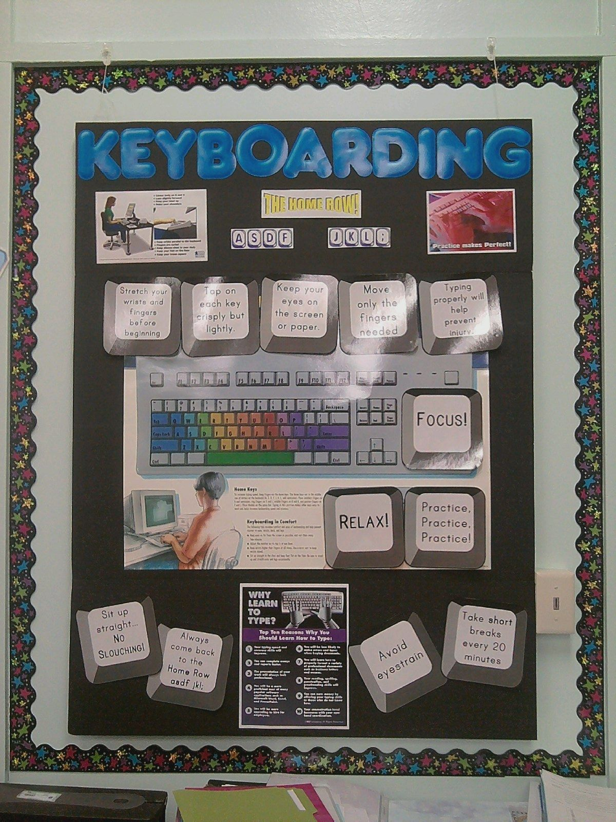 I Made This Bulletin Board On A Tri Fold Display Board For