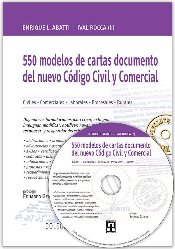 Abatti - Rocca (h): 550 modelos de cartas documento del nuevo Código ...