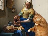 Johannes Vermeer, The Kitchen Maid and the Cat / Ян Вермеер Дельфтский, Молочница и кот