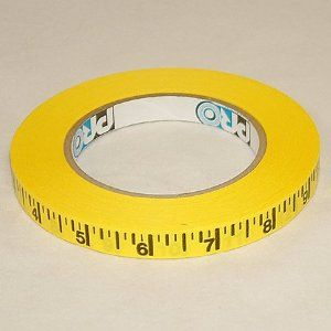 Pro Tapes Pro Measurement Ruler Tape 1 2 In X 50 Yds Yellow Black Imperial Scale Tape Craft Desk Paper Tape
