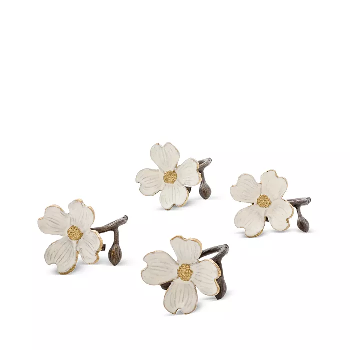 Michael Aram Dogwood Napkin Rings Set Of 4 Home Bloomingdale S In 2020 Michael Aram Napkin Rings Dogwood
