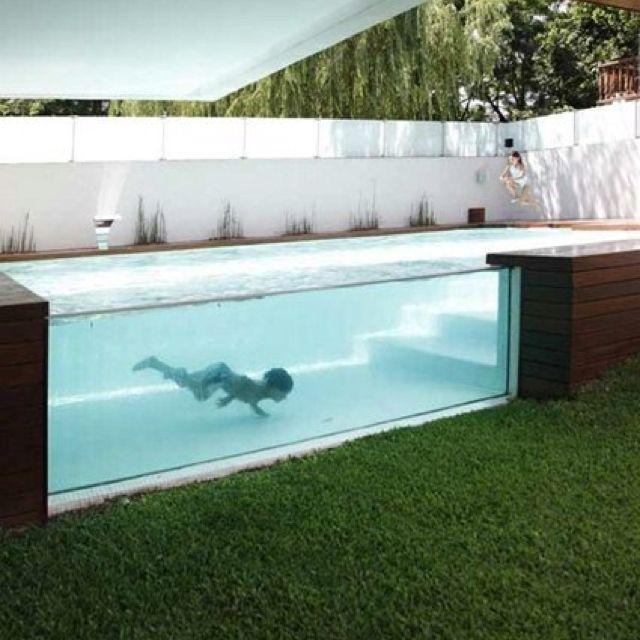 Piscina de cristal #pool #piscina #piscinadecristal #design